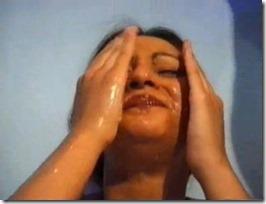 Asian MILF gets huge loads of cum on her body